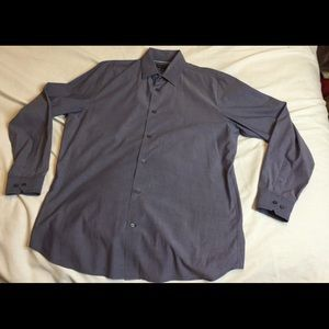 Banana Republic Men Sz 15-15 1/2 Large blue shirt